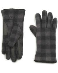 G.H.BASS G.h. Bass Buff Check Fleece Glove With Touch - Gray