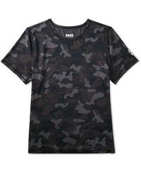 G.H. Bass & Co.  Trail Short Sleeve Performance Camo Tshirt - Black