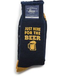 G.H.BASS G.h. Bass Here For The Beer Sweatshirt Socks - Blue