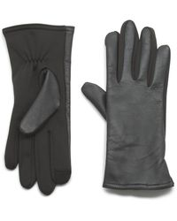 G.H.BASS G.h. Bass I-touch Glove With Leather - Black