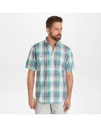 G.H.BASS G.h. Bass Short Sleeve Bluewater Bay Plaid Shirt