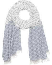 G.H. Bass & Co. - Printed Jacquard Oblong Scarf - Lyst