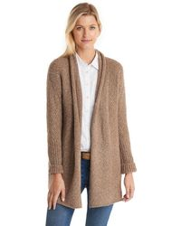 G.H.BASS G.h. Bass Cocoon Open Front Cardigan - Brown