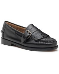 G.H. Bass & Co.  Esther Buckle Tweed Weejuns - Black