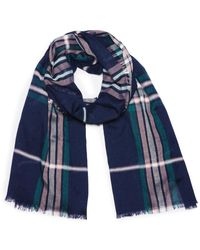 G.H.BASS G.h. Bass Plaid Oblong Scarf - Pink