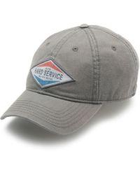 G.H.BASS G.h. Bass Baseball Hat With Hard Service Patch - Gray
