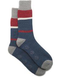 G.H.BASS G.h. Bass Colorblock Lodge Sock - Blue