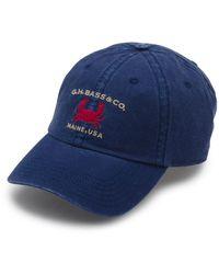 G.H.BASS G.h. Bass Embroidered Crab Baseball Hat - Blue