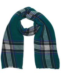 G.H.BASS G.h. Bass Twill Plaid Oblong Scarf - Green