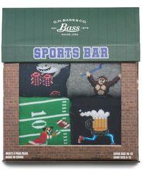 G.H.BASS G.h. Bass 4 Pack Sports Bar Boxed Socks - Green