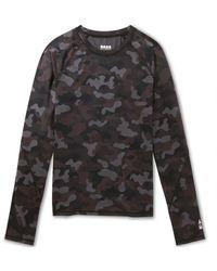 G.H. Bass & Co.  Trail Long Sleeve Performance Camo Shirt - Grey