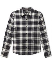 G.H. Bass & Co.  Windsor Stretch Flannel Shirt - Brown