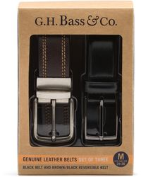 G.H.BASS G.h. Bass Belt In A Box 2 Pack - Black