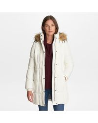 G.H.BASS G.h. Bass Puffer With Faux Fur Hood - Multicolor