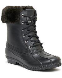 G.H. Bass & Co.  Harlequin Monochrome Duck Boot - Black