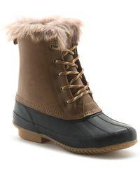 G.H. Bass & Co.  Alexa Winter Duck Boot - Brown