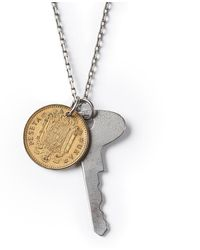 G.H. Bass & Co. - Astali ® Antique Steel Key Coin Necklace - Lyst