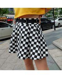 Ghoul RIP Half Pipe Romance Skater Skirt - Black