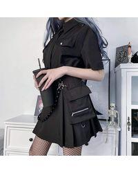Ghoul RIP Seek Truth Cargo Skirt - Black