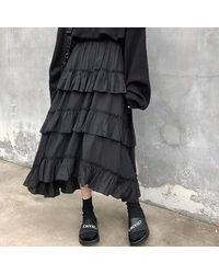 Ghoul RIP Bewitching Maxi Skirt - Black