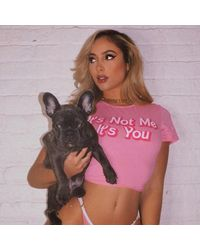 Ghoul RIP It's Not Me It's You Crop Top - Pink