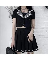 Ghoul RIP Ryuko Skirt Set - Multicolour