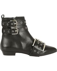 RED Valentino - Buckled Ankle Boots - Lyst