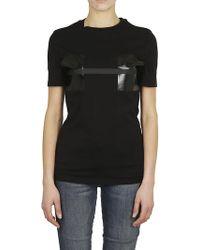 Neil Barrett - NEIL BARRETT T-shirt stampa nera - Lyst