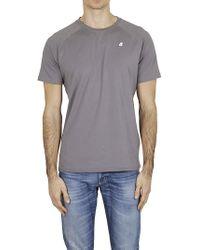 K-Way - K-WAY T-shirt logo grigia - Lyst