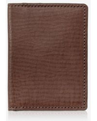 Gigi New York Card Case With Id Holder - Brown