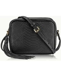 37cb269b2e77 Lyst - Burberry Madison Stud Wallet On A Chain Crossbody in Black