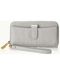Gigi New York | City Python-embossed Leather Zip-around Phone Wallet | Lyst