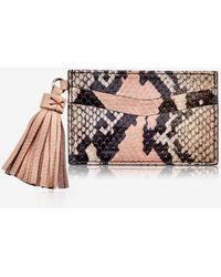 Gigi New York Slim Card Case With Tassel - Pink