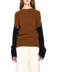 Eudon Choi Colourblock Knit Jumper - Brown