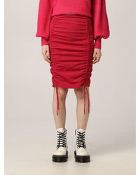 Dondup Gonna donna colore - Rosso