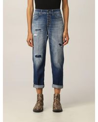 Dondup Jeans in washed con rotture - Blu