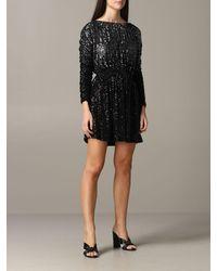 Saint Laurent Sequin-embellished Dress - Black