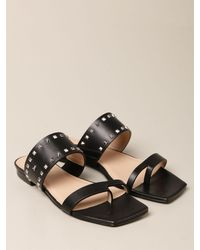 Patrizia Pepe Flat Sandals - Black