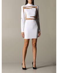 Balmain - Laser-cut Dress - Lyst