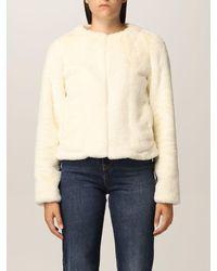 Twin Set Fur Coats - Natural