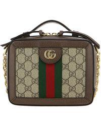Gucci Ophidia Briefcase In GG Supreme Leather - Multicolor