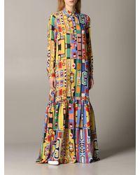 Stella Jean Printed Silk Maxi-dress - Multicolour