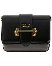 841a3cea577a Prada - Cahier Mini Bag In Genuine Saffiano Leather And Smooth Leather With  Metal Ring -
