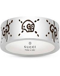 Gucci Ghost ring 9 mm aus sterling mit aureco finish - Weiß
