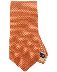 Ferragamo - Cravate 8 cm en pure soie avec une fantaisie de petits  champignons all over e12cf64aa95