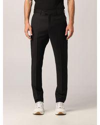 Les Hommes Pantalone in misto lana vergine - Nero