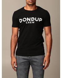 Dondup Tshirt con logo - Nero