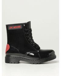 Love Moschino Flat Booties - Black