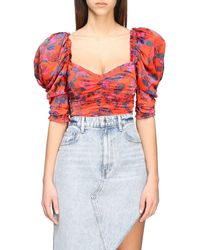 For Love & Lemons Body With Floral Pattern - Red