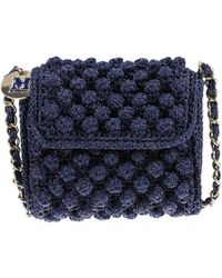 M Missoni - Boucle Knit Bag - Olive - Lyst